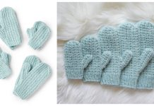 Broken Rib Stitch Mittens Free Knitting Pattern and Video Tutorial