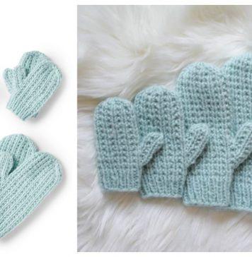 Broken Rib Stitch Mittens Free Knitting Pattern and Video Tutorial