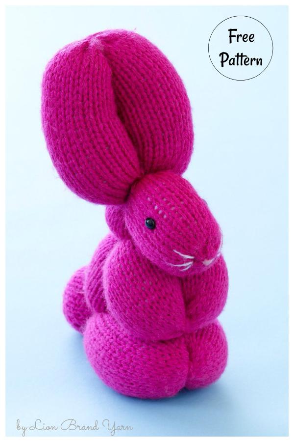 Bunny Balloon Animal Free Knitting Pattern