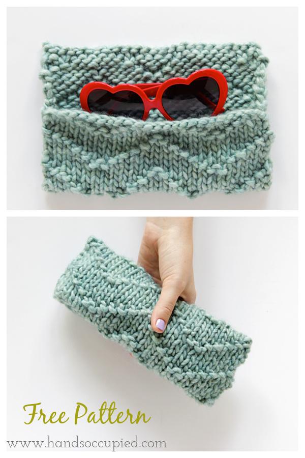 Chevron Sunglasses Case Free Knitting Pattern