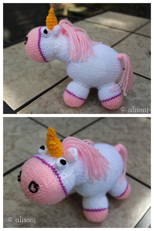 Despicable Me Fluffy Unicorn Free Knitting Pattern