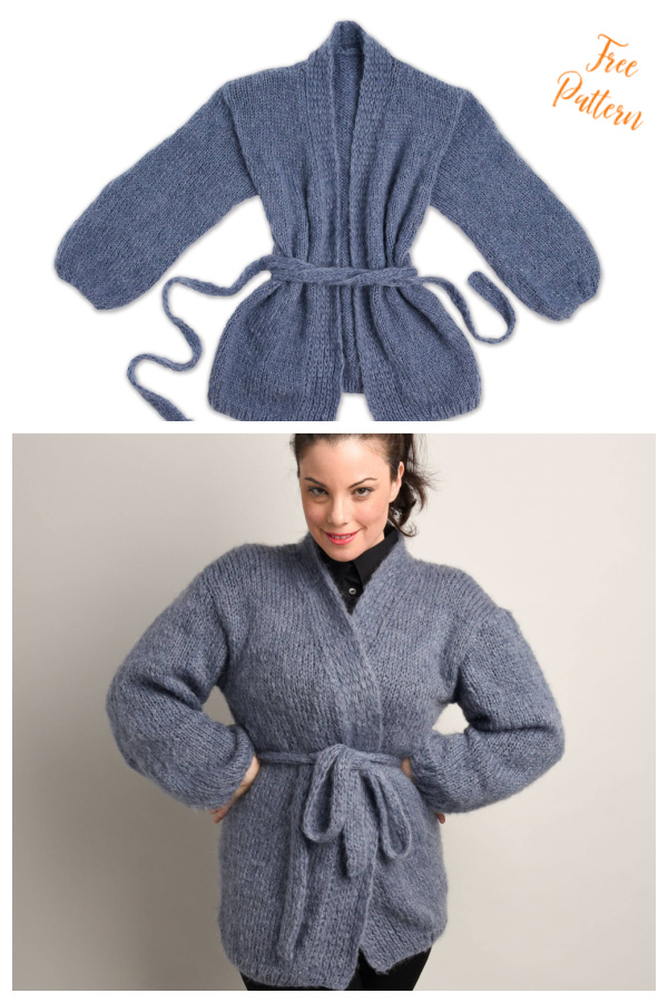 Easy and Cozy Cardigan Free Knitting Pattern