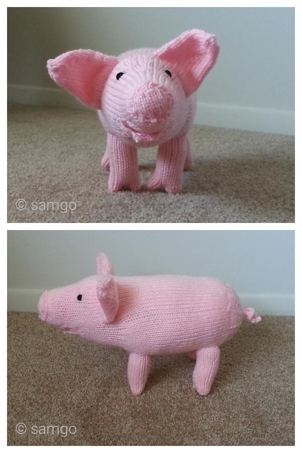 Farm Sanctuary Pig Free Knitting Pattern