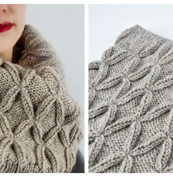 Faux Cable Cowl Free Knitting Pattern