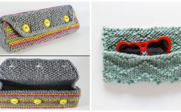 Glasses Case Free Knitting Pattern