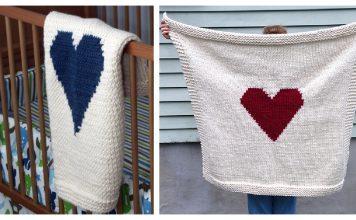 Heart Blanket Free Knitting Pattern