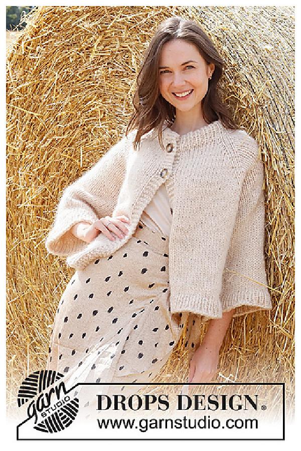Joy of the Harvest Jacket Free Knitting Pattern