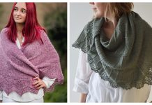 Lace Edge Triangular Shawl Free Knitting Pattern
