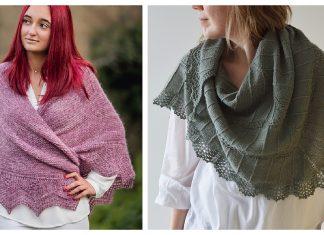 Lace Edge Triangular Shawl Free Knitting Pattern