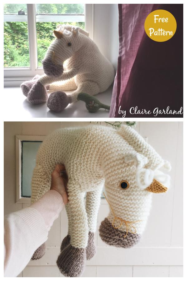 Midsummer Unicorn Free Knitting Pattern