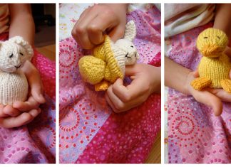 Mini-Reversible Duck to Bunny Free Knitting Pattern