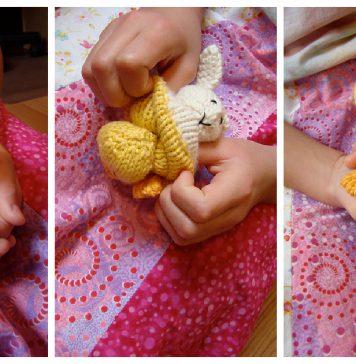 Mini-Reversible Duck to Bunny Free Knitting Pattern