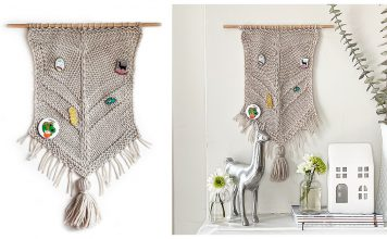 Pin Display Wall Hanging Free Knitting Pattern