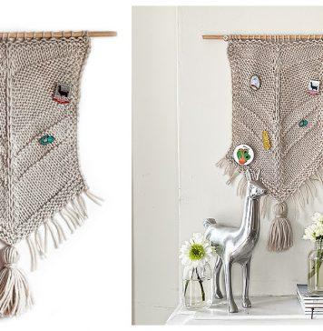 Pin Display Wall Hanging Free Knitting Pattern