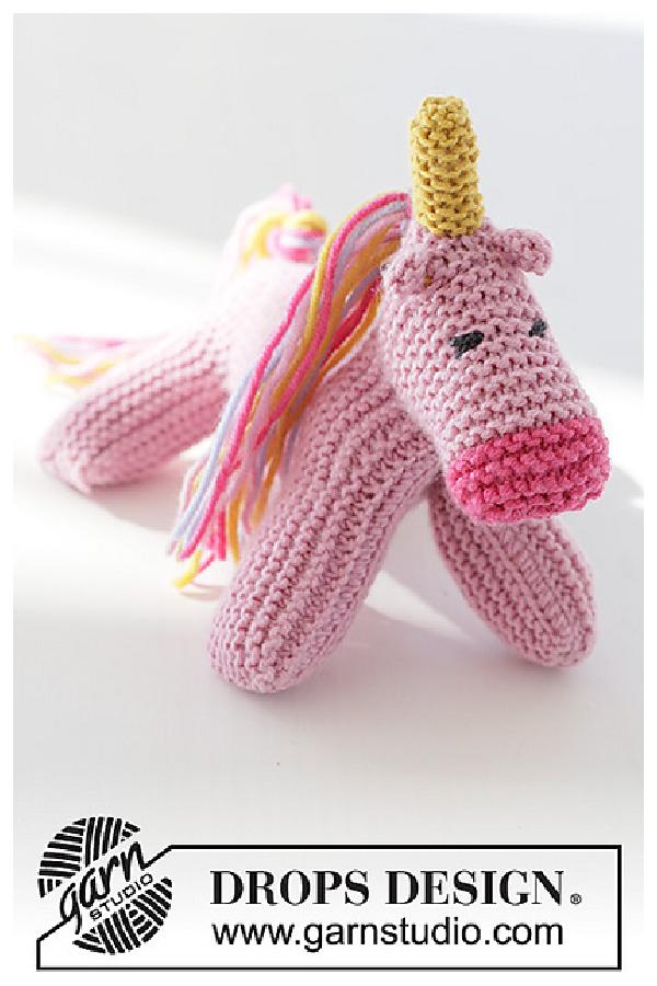 Rainbow the Unicorn Free Knitting Pattern