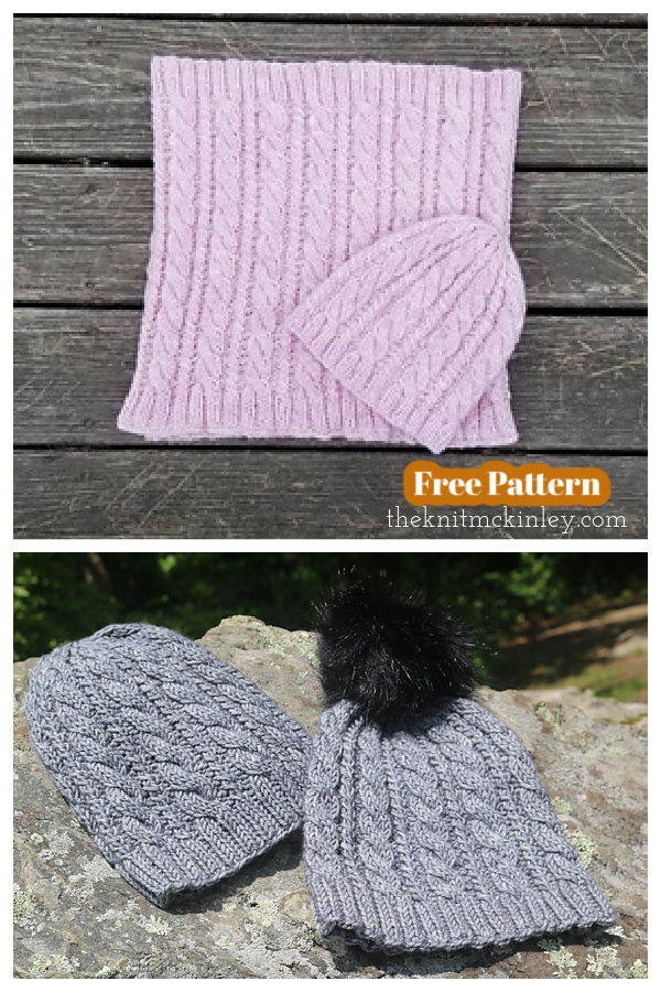 Rhode Trip Hat and Cowl Set Free Knitting Pattern