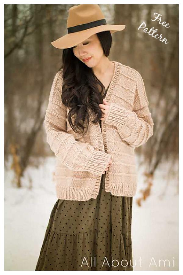 Ridgeline Cardigan Free Knitting Pattern