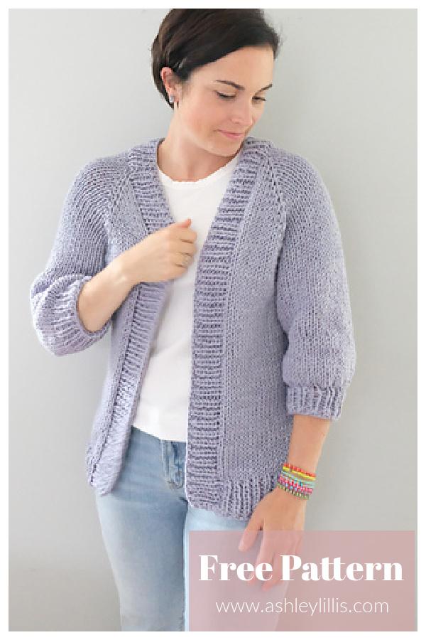 Shores Cardigan Free Knitting Pattern