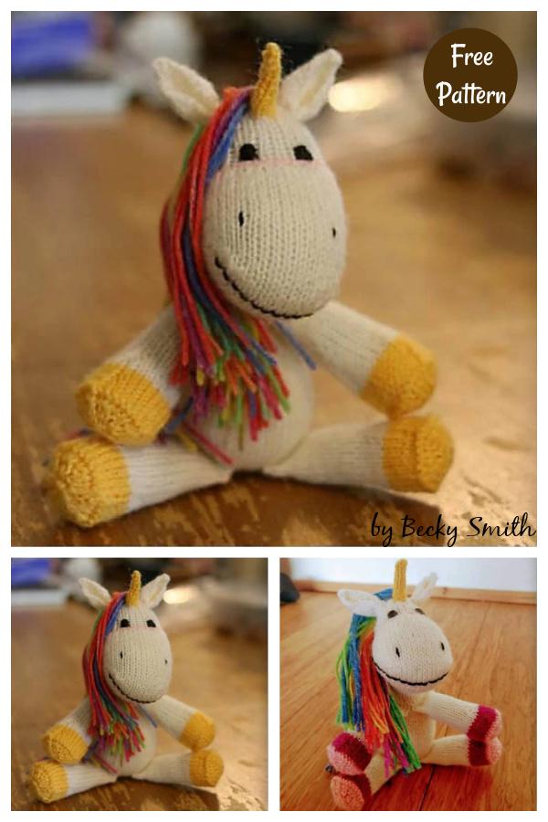 Sock Unicorn Free Knitting Pattern