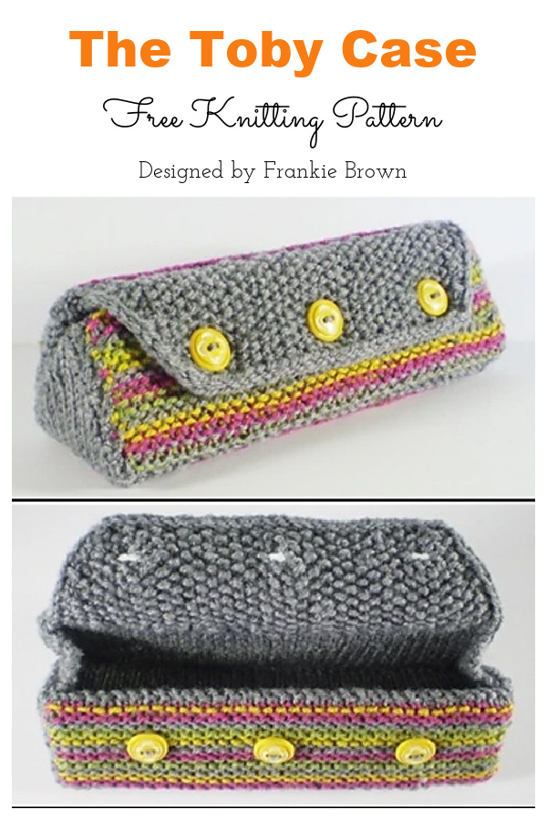 The Toby Glasses Case Free Knitting Pattern