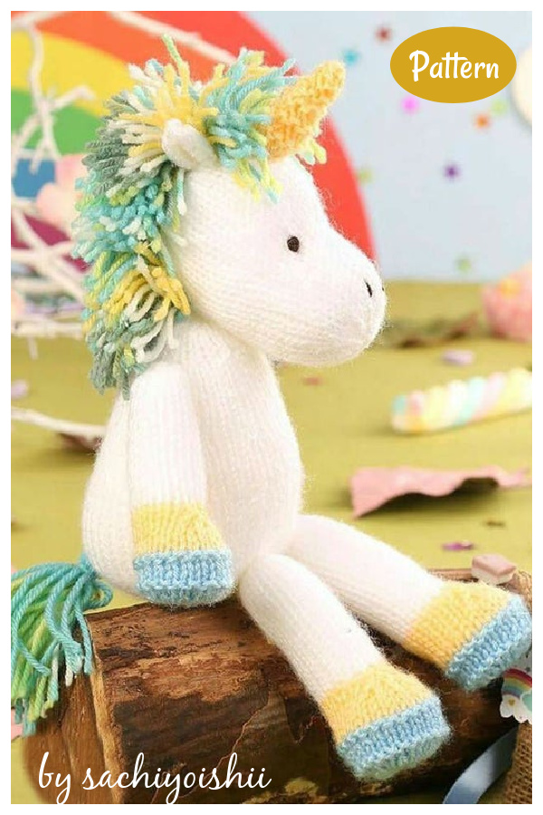 Unicorn Toy Knitting Pattern