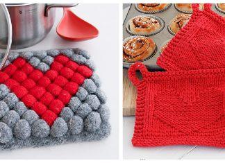 Valentine's Day Potholder Free Knitting Pattern