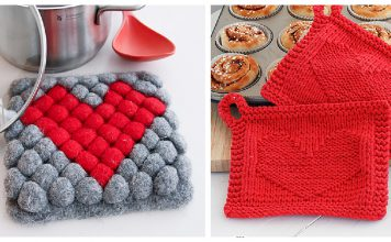 Valentine's Day Potholder Free Knitting Pattern