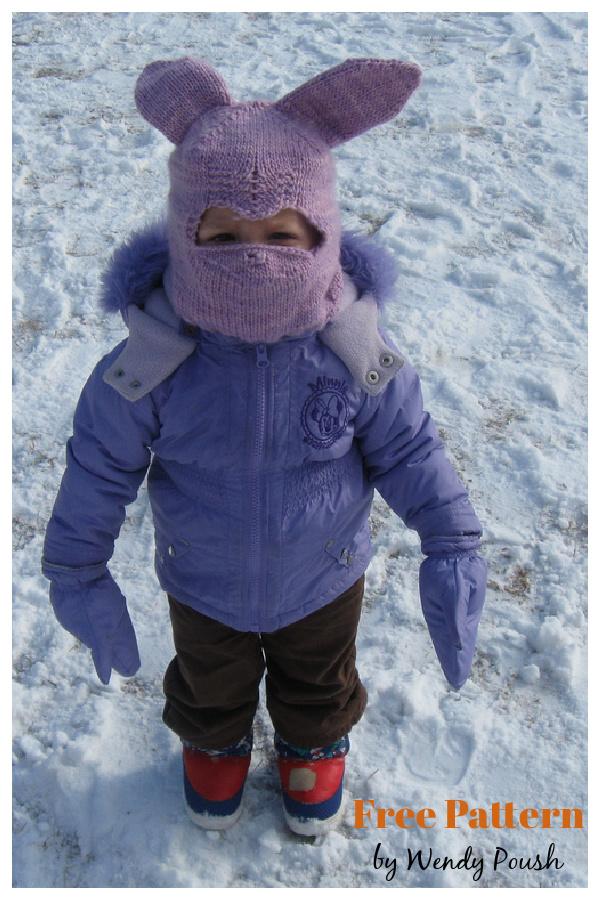Bunnyclava Toddler Balaclava Free Knitting Pattern