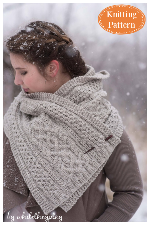 Cabled Aran Wrap Knitting Pattern
