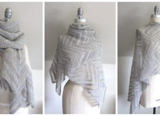 Chevron Lace Wrap Free Knitting Pattern