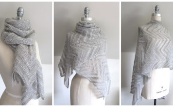 Chevron Lace Wrap Free Knitting Pattern