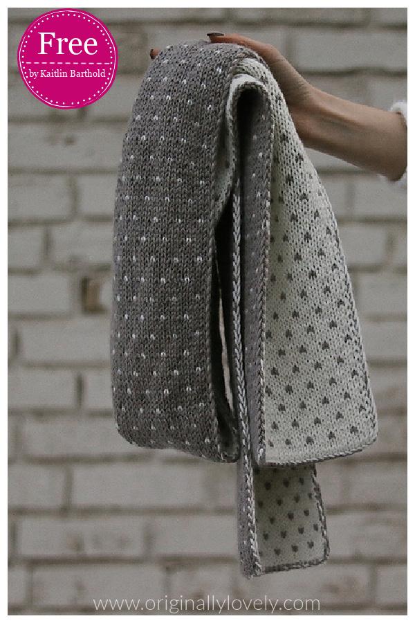 Dottie Double Knit Scarf Free Knitting Pattern