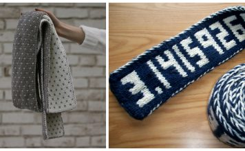 Double Knit Scarf Free Knitting Patterns