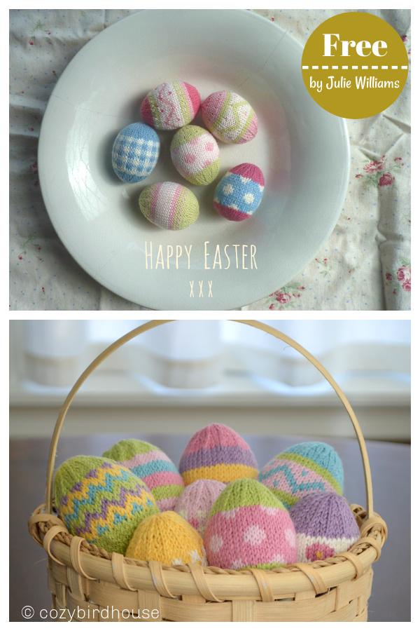 Easter Eggs Free Knitting Pattern