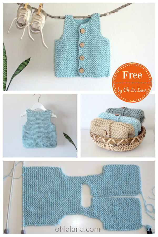 Easy Baby Vest Free Knitting Pattern