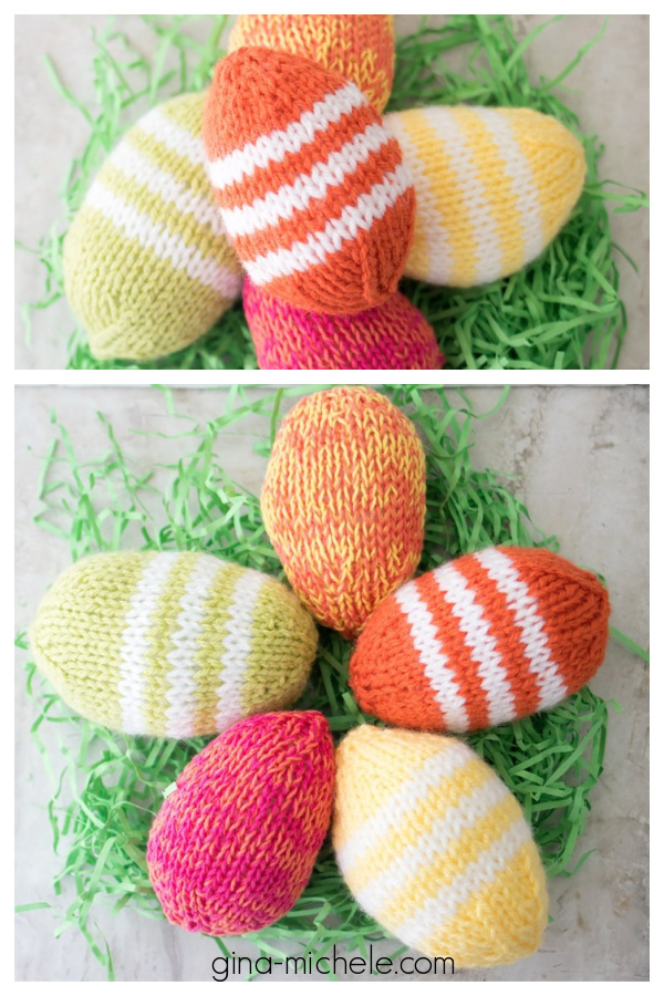 Easy Easter Eggs Free Knitting Pattern