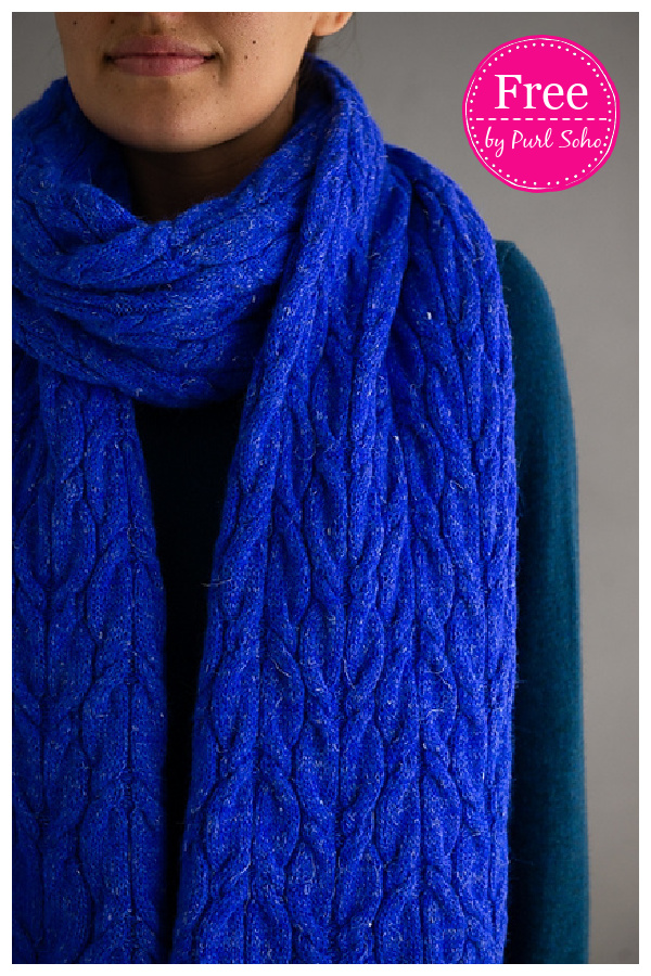 Estuary Cable Wrap Free Knitting Pattern