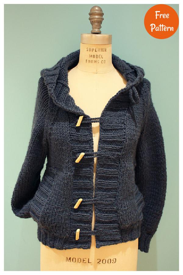 Everyone's Favorite Hooded Cardigan Free Knitting Pattern