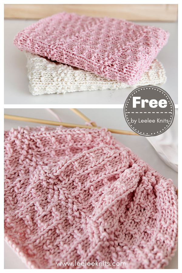 Farmhouse Dish Towel Free Knitting Pattern