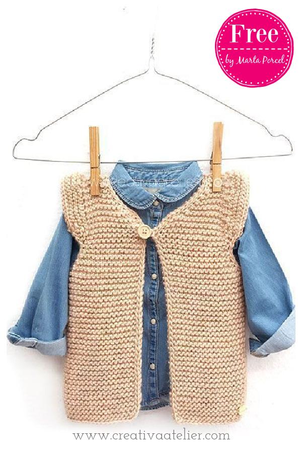 Girly Baby Vest Free Knitting Pattern