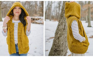 Hooded Vest Knitting Patterns