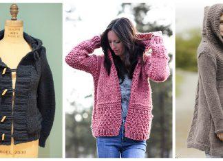 Hoodie Cardigan Free Knitting Pattern
