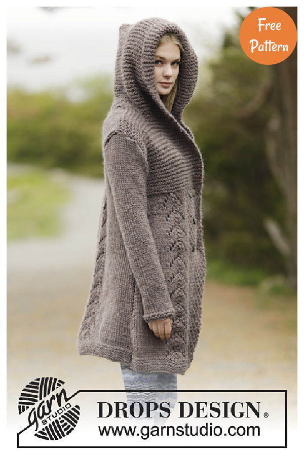 Into The Woods Hoodie Cardigan Free Knitting Pattern