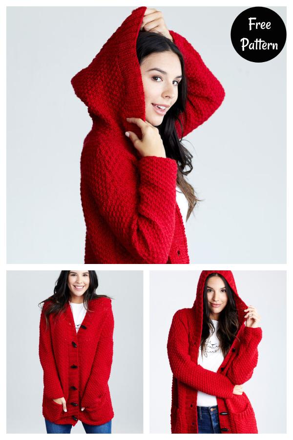 Lazy Day Chic Sweater Hoodie Cardigan Free Knitting Pattern