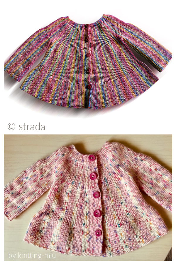 Little Jamboree Sideways Jacket Free Knitting Pattern