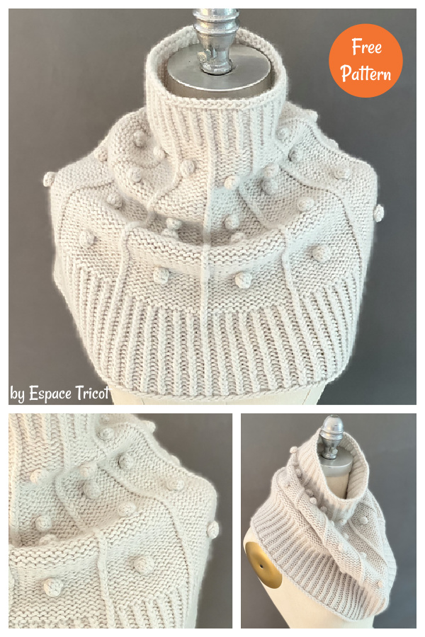 Onding Simple Funnel Cowl Free Knitting Pattern