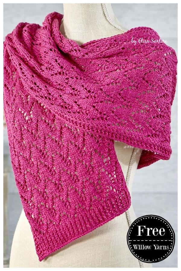 Priscilla Lace Scarf Free Knitting Pattern