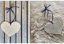 Rustic Little Flat Heart Free Knitting Pattern