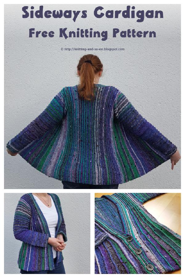 Sideways Cardigan Free Knitting Pattern