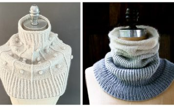 Simple Funnel Cowl Free Knitting Pattern